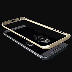 Varten Samsung Galaxy kotelo Pinnoitus Etui Bumper Etui Yksivärinen Metalli Samsung S6 edge