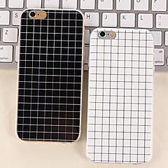 простой черный и белый цвет матовый небольшие случаи решетки TPU для Iphone 6 плюс / iPhone 6s плюс (ассорти цветов)
