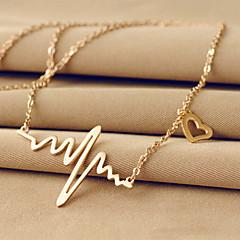 halpa -Naisten Heart Uniikki Perus Love Riipus-kaulakorut Titaaniteräs 18K kulta Riipus-kaulakorut , Häät Party Päivittäin Kausaliteetti
