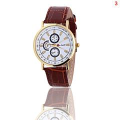 preiswerte Damenuhren-Damen Armbanduhr Quartz Sportuhr PU Band Analog Charme Freizeit Schwarz / Weiß / Blau - Schwarz Kaffee Blau