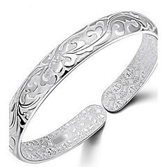 preiswerte Armbänder-Damen Armreife - Sterling Silber Blume Armbänder Silber Für Alltag / Normal / Sport