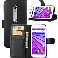 Недорогие Чехлы и кейсы для Motorola-theembossed cardprotectivesleeve мото г 2015 мобильного телефона оболочка для Motorola MOTO G3 мобильного телефона