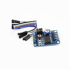 voordelige Modules-pcf8591 ad / da / analoog naar digitaal / digitaal-naar-analoog omzetter module w / DuPont kabel - deep blue