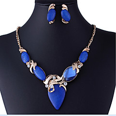 MPL Europe and the United States resin diamond gem necklace earrings set
