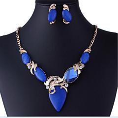 Női Ékszer készlet Divat Európai luxus ékszer Szintetikus drágakövek Hamis gyémánt Naušnice Nyaklánc Kompatibilitás Parti Különleges