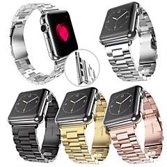 Zegarek na zegarek jabłkowy 38mm 42mm stal nierdzewna bransoletka motylkowa klamra