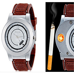 Męskie Zegarek na nadgarstek Unikalne Kreatywne Watch Kwarcowy PU Pasmo Twórczy Czarny Brązowy
