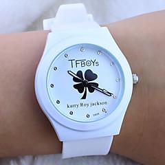 Χαμηλού Κόστους Προσφορές σε Ρολόγια-Παιδικά Μοδάτο Ρολόι Χαλαζίας καουτσούκ Μπάντα Κινούμενα σχέδια Λεκτικό ρολόι Λευκή Μαύρο Μπλε Ροζ