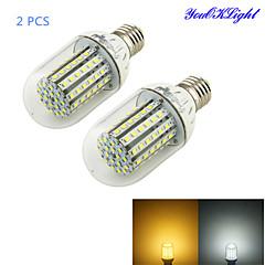 お買い得  LED 電球-YouOKLight 6W 450-500 lm E26/E27 LEDコーン型電球 T 90 LEDの SMD 3528 装飾用 温白色 クールホワイト DC 12V