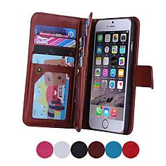 Недорогие Кейсы для iPhone 5-Кейс для Назначение Apple iPhone 8 / iPhone 8 Plus / iPhone 7 Кошелек / Бумажник для карт / Флип Чехол Однотонный Твердый Кожа PU для iPhone 8 Pluss / iPhone 8 / iPhone 7 Plus