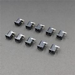 2.1MM DC 전원 잭 커넥터 - 블랙 (10 개 팩)