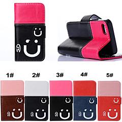 улыбаться всего тела случай защиты PU кожаный телефон с подставкой и слот для карт памяти для iPhone 5 / 5s