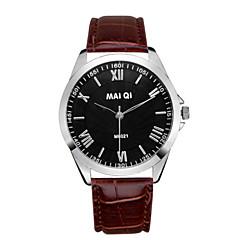お買い得  メンズ腕時計-男性用 リストウォッチ ホット販売 レザー バンド チャーム