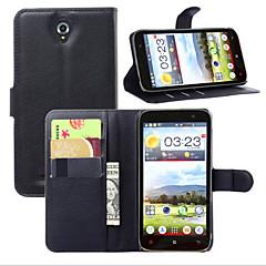 Недорогие Чехлы и кейсы для Lenovo-Кейс для Назначение Lenovo Кейс для Lenovo Кошелек / Бумажник для карт / со стендом Чехол Однотонный Твердый Кожа PU для