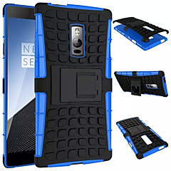 olcso Tokok-Kompatibilitás OnePlus tok tokok Ütésálló Állvánnyal Hátlap Case Páncél Kemény PC mert OnePlus One Plus 2 One Plus 3T