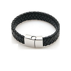 Braided PU Leather Bracelets With Stainless Steel Charm Design Bangles for Men  Jewelry Gifts