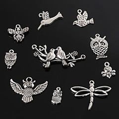 cheap Charms & Pendants-Women's Pendant Charms Bird Owl Butterfly Animal Silver Plated Metal Fashion Jewelry For Daily