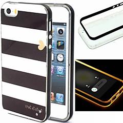 Для Кейс для iPhone 5 Мигающая LED подсветка / С узором Кейс для Задняя крышка Кейс для Полосы / волосы Мягкий TPU iPhone SE/5s/5