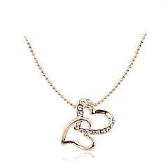 preiswerte Halsketten-Damen Kristall Anhängerketten / Y Halskette - Krystall Herz, Blume Silber, Golden Modische Halsketten Schmuck Für Party, Party / Abend, Danke