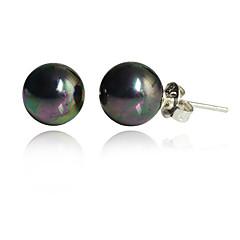 abordables Colección de perlas multicolor-Mujer Pendientes cortos - Perla, Perla Artificial, Black Pearl Negro Para Fiesta Diario Casual