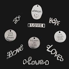 저렴한 -골동품 실버 beadia 항상&사랑&기대&라이브 웃음 사랑&사랑을 믿어요&당신의 꿈 금속 매력 펜던트를 살