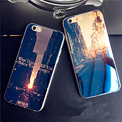 Kompatibilitás iPhone X iPhone 8 iPhone 8 Plus iPhone 6 iPhone 6 Plus tokok Minta Hátlap Case city ​​View Puha Szilikon mert iPhone X