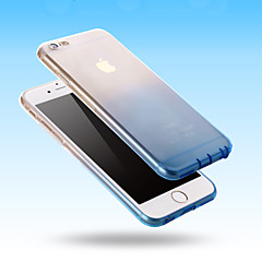 Недорогие Кейсы для iPhone 6 Plus-Кейс для Назначение Apple iPhone 6 iPhone 6 Plus Ультратонкий Прозрачный Кейс на заднюю панель Градиент цвета Мягкий Силикон для iPhone