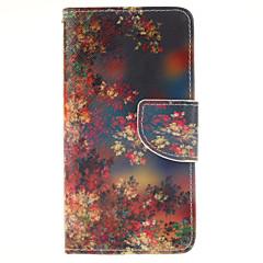 Voor Samsung Galaxy hoesje Kaarthouder / met standaard / Flip / Patroon / Magnetisch hoesje Volledige behuizing hoesje Boom PU-leer