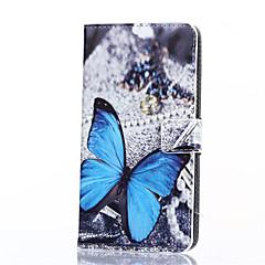 Χαμηλού Κόστους Άλλες Θήκες / Καλύμματα για Samsung-μπλε μοτίβο πεταλούδα pu δέρμα πλήρη κάλυψη του σώματος με τη βάση για το Samsung Galaxy on7 / Ι3 / G530 / on5 / J1 άσος / g360
