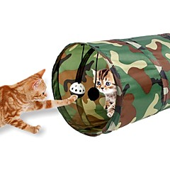 お買い得  猫用おもちゃ-キャットチューブ チューブ/トンネル 折りたたみ式 ベル 繊維 用途 ネコ 子猫