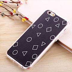 billige Etuier til iPhone 6s-Etui Til Apple iPhone 6 iPhone 6 Plus Belægning Mønster Bagcover Geometrisk mønster Blødt TPU for iPhone 6s Plus iPhone 6s iPhone 6 Plus