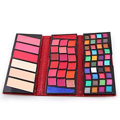 66 Colors Poeder + Oogschaduw + Lipgloss Droog / Nat / Mat / Glinstering Ogen / GezichtGlanzende Glitter Lipgloss / Langdurig / Concealer