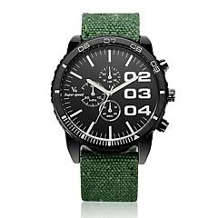 preiswerte Herrenuhren-V6 Herrn Quartz Armbanduhr Armbanduhren für den Alltag Stoff Band Charme Schwarz Blau Rot Grün