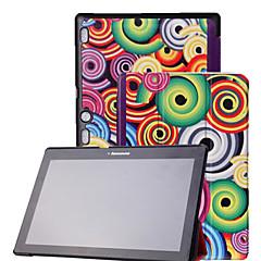 preiswerte Tablet-Hüllen-Lenovo Hülle Für Lenovo Hüllen (Full Body) / Hüllen mit Ständer Ganzkörper-Gehäuse Druck / Neuheit Hart PU-Leder für