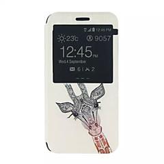 お買い得  Samsung その他の機種用ケース/カバー-ケース 用途 Samsung Galaxy Samsung Galaxy ケース スタンド付き / ウィンドウ付き / フリップ フルボディーケース 動物 PUレザー のために Xcover 3 / J5