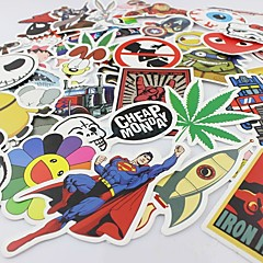 100 Pcs/ Pack Random Music Film Vinyl Skateboard Guitar Travel Case Sticker Car Decal Cute Stickers