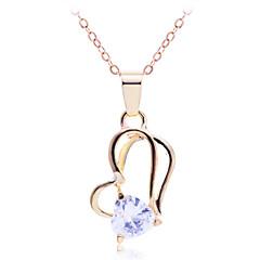 preiswerte Halsketten-Damen Kubikzirkonia Anhängerketten - Zirkon Herz Silber, Golden Modische Halsketten Schmuck Für Party, Danke, Alltag