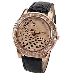 preiswerte Tolle Angebote auf Uhren-Damen Armbanduhr Quartz Schlussverkauf PU Band Analog Glanz Leopard Modisch Braun Blau Rosa