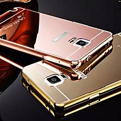 Недорогие Чехлы и кейсы для Galaxy Note 5-Кейс для Назначение SSamsung Galaxy Samsung Galaxy Note Покрытие Зеркальная поверхность Кейс на заднюю панель Сплошной цвет Металл для