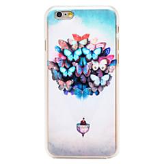 Для Кейс для iPhone 6 / Кейс для iPhone 6 Plus С узором Кейс для Задняя крышка Кейс для Бабочка Твердый PCiPhone 6s Plus/6 Plus / iPhone
