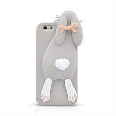 tanie Etui do iPhone-Kılıf Na Apple iPhone 8 iPhone 8 Plus iPhone 6 iPhone 6 Plus Odporne na wstrząsy Czarne etui Kreskówka 3D Miękkie Silikonowy na iPhone 8