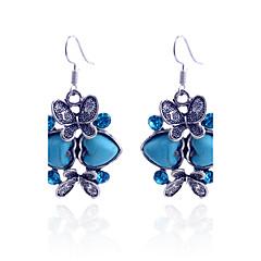 Dames Druppel oorbellen Liefde Luxe Sieraden Kostuum juwelen Kristal Verzilverd Gesimuleerde diamant Turkoois Hartvorm Dierenvorm Vlinder