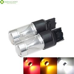お買い得  自動車用LED電球-sencart 2pcs t20 7440 30w 6x3535 smd赤色/黄色/冷白色ターンシグナルライト冷たい白色ac / dc 12-24v