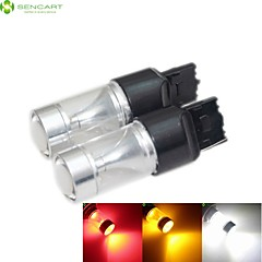preiswerte LED Autobirnen-Sencart 2 Stück t20 7440 30W 6x3535 SMD rot / gelb / kaltweiß Blinker kaltweiß AC / DC 12-24V
