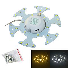 Jiawen 12w 1200lm 6500K / 3200K 24-smd5730 biały / ciepły biały źródło światła lampa sufitowa / paznokci magnetyczna (ac170 ~ 265V)