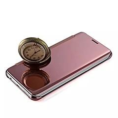 Kompatibilitás iPhone X iPhone 8 iPhone 5 tok tokok Galvanizálás Tükör Flip Teljes védelem Case Tömör szín Kemény Fém mert iPhone X