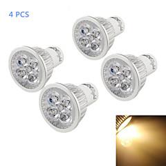 4W GU10 LED Σποτάκια A50 4 leds LED Υψηλης Ισχύος Με ροοστάτη Διακοσμητικό Θερμό Λευκό 320-350lm 3500K AC 110-130V