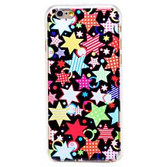 красочные форме звезды шаблон прозрачной шт задняя крышка для Iphone 6