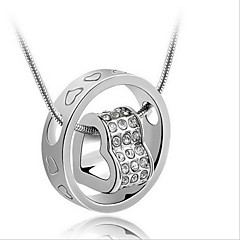 Men's Women's Pendant Necklaces Heart Sterling Silver Fashion Bridal Jewelry For Wedding Gift Daily Casual