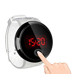 お買い得  大特価腕時計-男性用 リストウォッチ デジタル 耐水 タッチスクリーン クリエイティブ シリコーン バンド デジタル ブラック - ブラック ブラック / ホワイト ホワイト / シルバー 2年 電池寿命 / LED / パナソニックCR2032